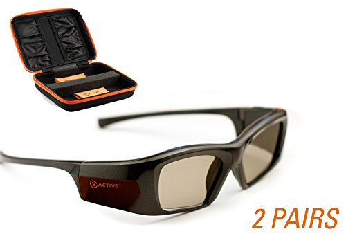 SONY-Compatible 3ACTIVE 3D Glasses. Rechargeable. TWIN-PACK
