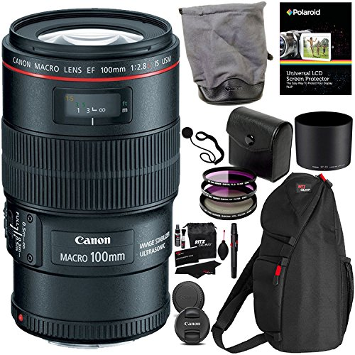 canon ef 100mm f28l is usm macro lens for canon digital slr cameras - Canon EF 100mm f/2.8L IS USM Macro Lens for Canon Digital SLR Cameras, Polaroid 3 Piece 67mm Filter Kit (UV / CPL / FLD ) and Polaroid Accessory Kit