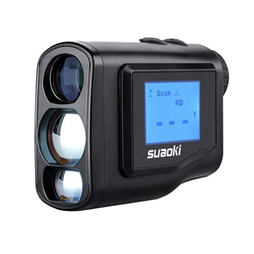 Suaoki Digital Laser Rangefinder Scope (Range : 4.4 yard- 656 yard/600M ) with Golf Distance Correction, Fog Mode and LCD Screen Display
