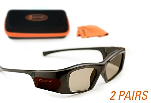 PANASONIC-Compatible 3ACTIVE 3D Glasses. Rechargeable. TWIN-PACK