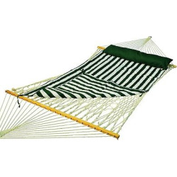 Deluxe Double Rope-Hammock with Pad – Natural