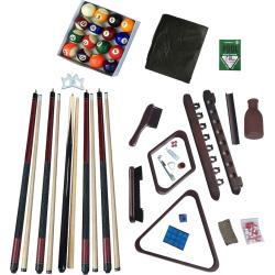 Hathaway Deluxe Billiards Mahogany Finish Accessory Kit, Multicolor