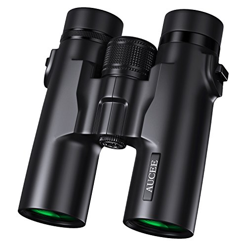 AUCEE 10×42 Binoculars for Adults, Professional HD Compact Waterproof and Fogproof Binoculars for Bird Watching Hiking Travel Stargazing Hunting Concerts Sports-BAK4 Prism FMC Lens with Carrying Bag
