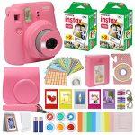 fujifilm instax mini 9 instant camera flamingo pink with custom case fuji 150x150 - Fujifilm Instax Mini 9 Instant Camera Smokey White with Carrying Case + Fuji Instax Film Value Pack (40 sheets) Accessories Bundle, Color Filters, Photo Album, Assorted Frames, Selfie Lens + More