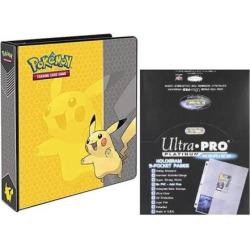 ultra pro pokmon pikachu card album 9 pocket sheets set multicolor - Ultra Pro Pokémon Pikachu Card Album & 9-Pocket Sheets Set, Multicolor