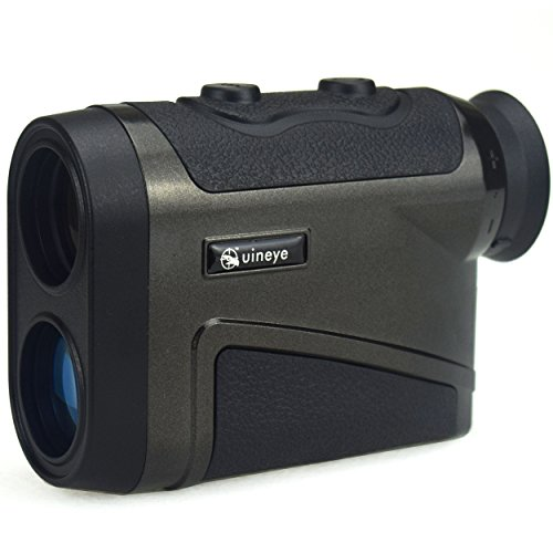 Uineye Laser Rangefinder – Range : 5-1600 Yards, 0.33 Yard Accuracy, Golf Rangefinder with Height, Angle, Horizontal Distance Measurement Perfect for Hunting, Golf, Engineering Survey (Black)
