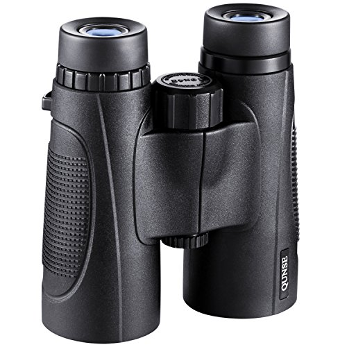 QUNSE Binoculars for Adults Compact, 10X42 HD Professional, Bak4 Roof Prisms and FMC Optical Lenses, for Bird Watching, for Stargazing, Camping, Concerts, for Hunting, Outdoor Safaris.