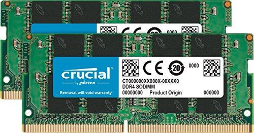 crucial 32gb kit 16gbx2 ddr4 2400 mts pc4 19200 dr x8 unbuffered sodimm - Crucial 32GB Kit (16GBx2) DDR4 2400 MT/s (PC4-19200) DR x8 Unbuffered SODIMM 260-Pin Memory - CT2K16G4SFD824A