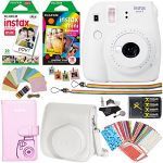 fujifilm instax mini 9 instant camera smokey white rainbow film pack twin 150x150 - Fujifilm Instax Mini 9 Film Camera LIME Instant Camera + 20 Instant Fuji-Film Shots, Instax Case + 14 PC Instax Accessories Bundle, Fuji Mini 9 Kit Gift, 2 Albums, Lenses, Magnets Frames by Shutter