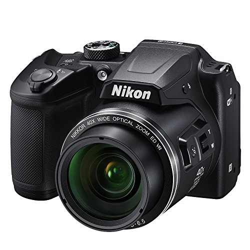 Nikon COOLPIX B500 16MP 40x Optical Zoom Digital Camera Bundle includes Camera, 4 AA Rechargeable Batteries + Charger MH-73, Cables and More (Black)