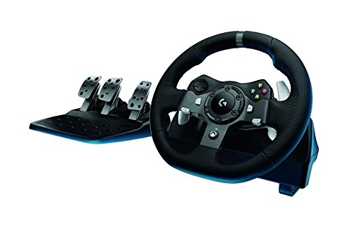 logitech g920 dual motor feedback driving force racing wheel with responsive - Logitech G920 Dual-motor Feedback Driving Force Racing Wheel with Responsive Pedals for Xbox One