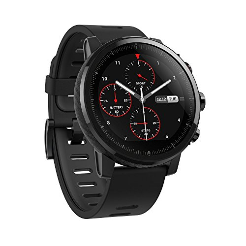amazfit stratos multisport smartwatch by huami with vo2max all day heart - Amazfit Stratos Multisport Smartwatch by Huami with VO2max, All-day Heart Rate and Activity Tracking, GPS, 5 ATM Water Resistance, Phone-free Music, US Service and Warranty (A1619, Black)