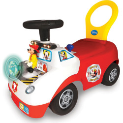 disneys mickey mouse activity fire truck light sound activity ride on - Disney's Mickey Mouse Activity Fire Truck Light & Sound Activity Ride-On Vehicle by Kiddieland, Multicolor