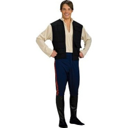 star wars mens han solo costume one size fits most multi colored - Star Wars Men's' Han Solo Costume One Size Fits Most, Multi-Colored