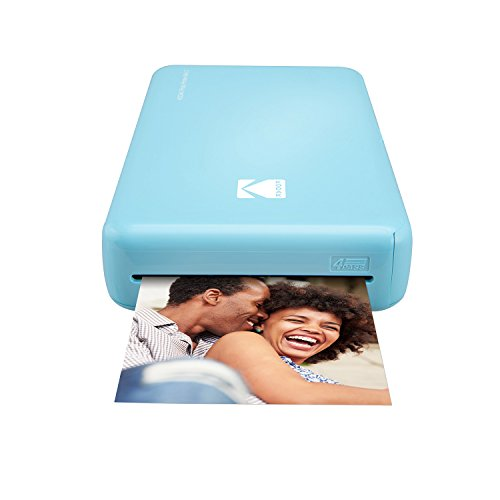 Kodak Mini 2 HD Wireless Portable Mobile Instant Photo Printer, Premium Quality Instant Prints w/4PASS Patented Printing Technology (Blue) – Compatible w/iOS & Android Devices
