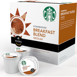 Keurig K-Cup Pod Starbucks Breakfast Blend Coffee – 96-pk, Multicolor