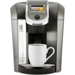 Keurig K525 Single-Serve K-Cup Coffee Maker, Black/Silver