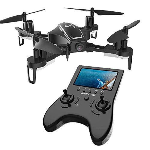 holy stone hs230 rc racing fpv drone with 120 fov 720p hd camera live video - Holy Stone HS230 RC Racing FPV Drone with 120° FOV 720P HD Camera Live Video 45Km/h High Speed Wind Resistance Quadcopter with 5.8G LCD Screen Real Time Transmitter Includes Bonus Battery