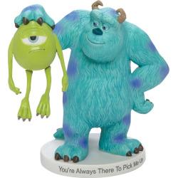 disney pixar monsters inc mike sully figurine by precious moments - Disney / Pixar Monsters, Inc. Mike & Sully Figurine by Precious Moments, Multicolor