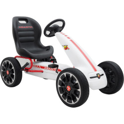 blazin wheels abarth f1 pedal go kart ride on vehicle multicolor - Blazin Wheels Abarth F1 Pedal Go Kart Ride-on Vehicle, Multicolor