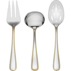 gorham golden ribbon edge 3 pc hostess set - Gorham Golden Ribbon Edge 3-pc. Hostess Set