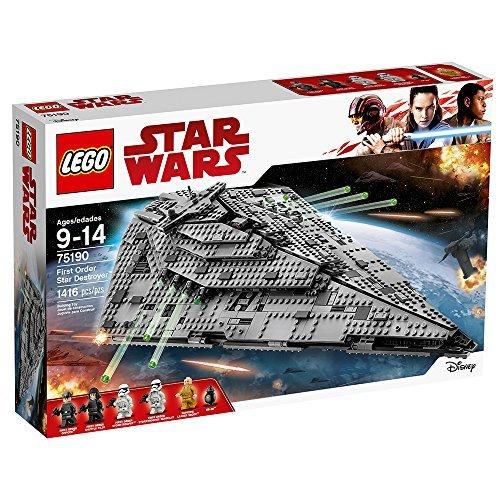 lego star wars viii first order star destroyer 75190 building kit 1416 piece - LEGO Star Wars VIII First Order Star Destroyer 75190 Building Kit (1416 Piece)