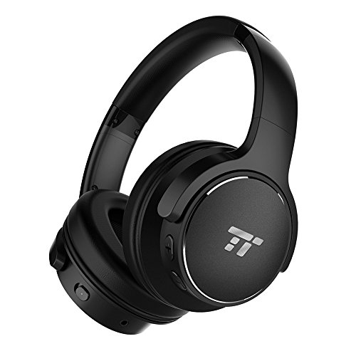 taotronics active noise cancelling bluetooth headphones hifi stereo wireless - TaoTronics Active Noise Cancelling Bluetooth Headphones HiFi Stereo Wireless Over Ear Deep Bass Headset w/cVc Noise Canceling Microphone 30 Hour Playtime Comfortable Earpads for Travel Work TV