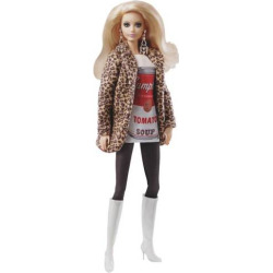 barbie andy warhol campbells soup barbie doll multicolor - Barbie Andy Warhol Campbell's Soup Barbie Doll, Multicolor
