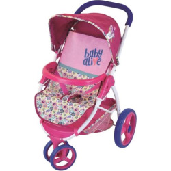 baby alive lifestyle doll stroller multicolor - Baby Alive Lifestyle Doll Stroller, Multicolor