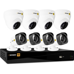 Defender HD 1080P 8CH with 4 Dome Cameras & 4 Bullet Cameras