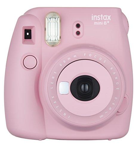 Fujifilm Instax Mini 8+ (Strawberry) Instant Film Camera + Self Shot Mirror for Selfie Use – International Version (No Warranty)