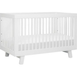 babyletto hudson 3 in 1 convertible crib with toddler rail white - Babyletto Hudson 3-in-1 Convertible Crib with Toddler Rail, White