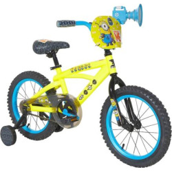 Youth Minions Bike with Training Wheels, Yellow
