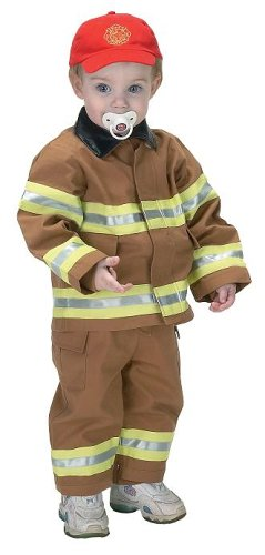 jr fire fighter suit with embroidered cap size 18month tan - Jr. Fire Fighter Suit with embroidered Cap, size 18Month (tan)