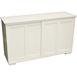 Pacific Stackable Sliding Wooden Doors Cabinet Antique White – Tms