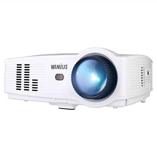 "projector wimius t4 3500 lumens 58 inch lcd projector support 200 display - Projector, WiMiUS T4 3500 Lumens 5.8 Inch LCD Projector Support 200"" Display Full HD 1080P 50,000 hours LED Video Projector, Compatible with Amazon Fire TV Stick, HDMI, VGA, USB for Home Theater-White"
