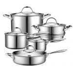 cooks standard 10 piece multi ply clad cookware set stainless steel 150x150 - Circulon Symmetry Hard Anodized Nonstick 11-Piece Cookware Set