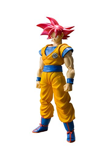 "bandai tamashii nations sh figuarts super saiyan god son goku dragon ball - Bandai Tamashii Nations S.H. Figuarts Super Saiyan God Son Goku ""Dragon Ball Super""  Action Figure"
