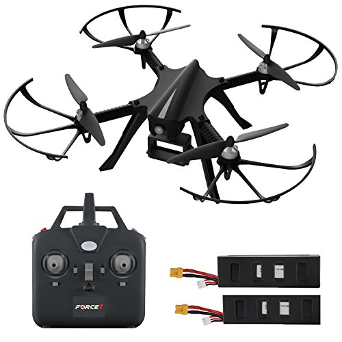 """GoPro Compatible HD Camera Drone – """"Force1 F100"""" Brushless Motor Drone for Beginners and Pros Extends Drones Flight Time (Camera Not Included)"""