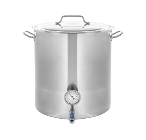 CONCORD Stainless Steel Home Brew Kettle Stock Pot (Weldless Fittings) (40 QT/10 Gal)
