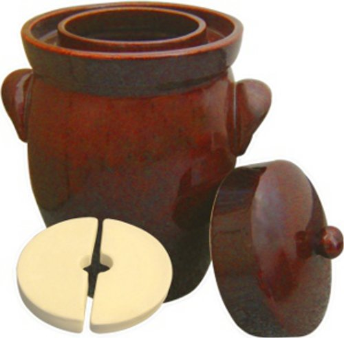 K&K Keramik – German Made Fermenting Crock Pot , Kerazo F2, 7 L (1.9 Gal)