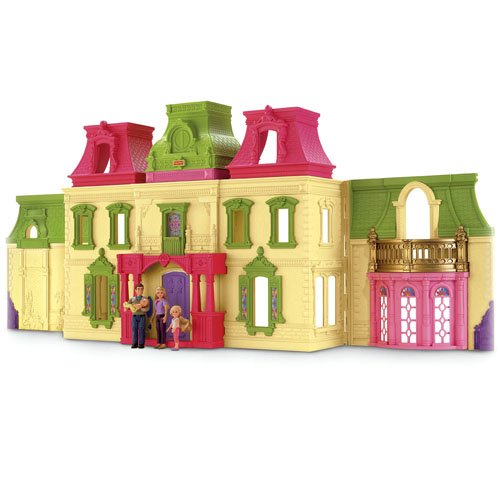 Fisher-Price Loving Family Dream Dollhouse with Caucasian Family(Discontinued by manufacturer)