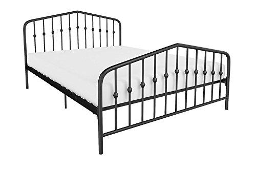 novogratz bushwick metal bed modern design full size black - Novogratz Bushwick Metal Bed, Modern Design, Full Size - Black