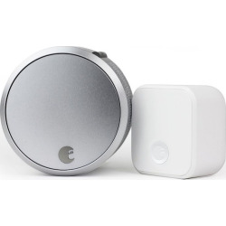 august smart lock pro connect bundle silver - August Smart Lock Pro Connect Bundle, Silver
