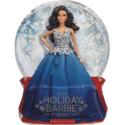 2016 Holiday Barbie Doll – Blue, Multicolor