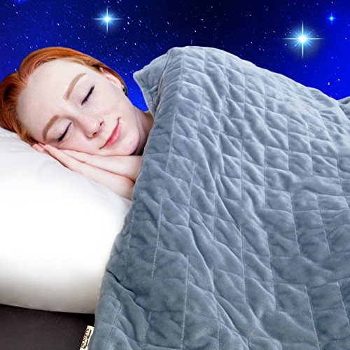 dr harts weighted blanket kids quilt heavy gravity blanket for anxiety - Dr. Hart's Weighted Blanket Kid's Quilt | Heavy Gravity Blanket for Anxiety Relief & to Improve Sleep | Natural Sleep Aid & Stress Relief | Calming Weighted Comforter & Cover | 15 lbs | 60x80