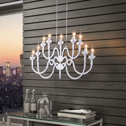 zuo pure supercell chandelier silver - Zuo Pure Supercell Chandelier, Silver