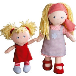 haba sisters 12 in lennja 8 in elin dolls multicolor - Haba Sisters 12-in. Lennja & 8-in. Elin Dolls, Multicolor
