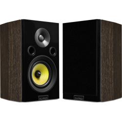 Fluance Signature Series HiFi Two-way Bookshelf Surround Sound Speakers – Natural Walnut