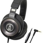 audio technica ath ws1100is solid bass over ear headphones with in line 150x150 - Panasonic Premium Hi-Res Stereo Over-the-Ear Headphones with Mic + Controller RP-HD10C-K (Black), with Travel Case